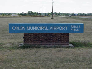 Colby Municipal Airport Sign