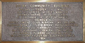 Community Building Dedication Plaque